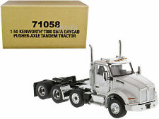 KENWORTH T880 SBFA DAYCAB PUSHER-AXLE TRACTOR WHITE 1/50 DIECAST MASTERS 71058
