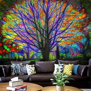 Trippy Tree Mandala Tapestry Psychedelic Wall Hanging Blanket for Bedroom Decor✅
