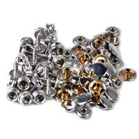 25X Canvas Canopy Snap Stud Cap Boat Marine Cover Fastener Stainless Steel Screw