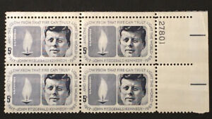John F Kennedy 35th President  Scott  #1246  Plate Block  Mint NH OG JFK