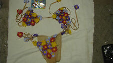 NEW COVER STYLE FLOWERS BIKINI MADE IN THE USA SO CUTE MEDIUM