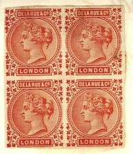 GB QV Stamps DE LA RUE Colour Standard *Orange/Indian Red* Block Work Book #1075