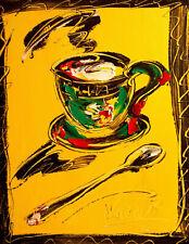 Coffee  ART CANVAS IMPRESSIONIST IMPASTO ARTIST  Original Oil 435u