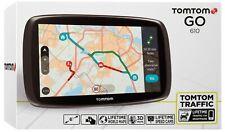"TomTom GO 610 6"" inch Sat Nav Lifetime World Maps, Speed Cameras & Live Traffic."