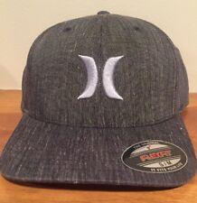 Hurley Black Suits Graphite Gray Stretch Fit Flexfit S/M Cap Hat $30