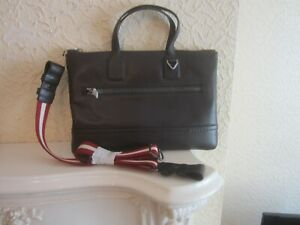 Bally TAS Men's Leather Business Bag In Chocolate Brown