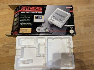 Original Super Nintendo SNES BOX ONLY *** NO CONSOLE***