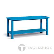 BANCO LAVORO OFFICINA BLU CON PIANO IN ACCIAIO MIAL IDEAONE 06 032