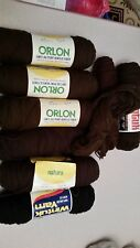 Dupont and Wintuk 100% Orlon Acrylic brown and black 8 4oz skeins NEW!