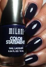 NEW! Milani Color Statement Nail Polish in INK SPOT #27 Very Dark INK Blue