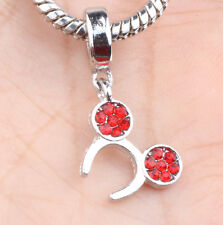 European Silver CZ Charm Beads Fit sterling 925 Necklace Bracelet Chain A#620