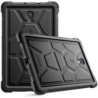 For Galaxy Tab A 10.5 [Shockproof] w/Drop Protection Silicone Case Cover Black