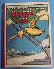 Gédéon fait du ski Benjamin Rabier Album illustré Canard Ours Perroquet Lapin