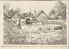 VIETNAM ANNAM COCHINCHINE MEULE A DECORTIQUER GRAVURE IMAGE 1901