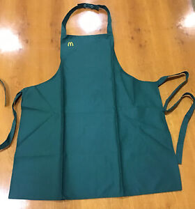 Vintage 1986 Mcdonalds Fast Food Employee Apron Uniform Green Sz MEDIUM NEW