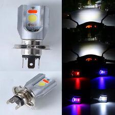 6500K H4 Motorcycle COB LED Headlight Hi/Lo Beam Front Light Bulb Lamp 3 Colors