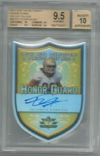 BGS 9.5 2013 Leaf Valiant Honor Guard Die Cut Yellow AUTO Tyler Eifert #d 6/10