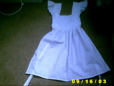 victorian edwardian tudor apron sissy adult white pinny maid new apron alice cd