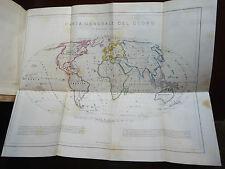SCHIAPARELLI : MANUALE GEOGRAFIA e STATISTICA - TORINO 1862, con 3 tavole mappe