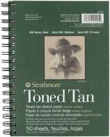 Spiral Toned Tan 50 Paper Sheets Sketch Book Pad Art Supply Drawing Sketchbook