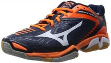 MIZUNO Unisex Handball shoes WAVE STEALTH3 X1GA1400 Navy X orange US11