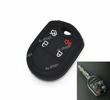 Black Silicone Protective Bag Remote Key Case Cover Holder For Ford Edge Focus