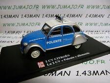 voiture 1/43 ELIGOR Autoplus CITROËN 2CV n°25 Polente POLIZEI allemande