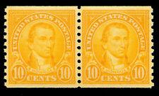 Momen: Us Stamps #603 Coil Pair Mint Og Nh Xf-Sup Pse Cert