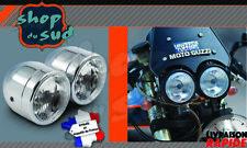Phare Double Optique Chrome CAFE RACER TRIUMPH GUZZI NORTON DUCATI BENELLI VOXAN