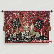 """103 x 138 Wandteppich Wandbehang """"DIE DAME MIT DEM EINHORN""""- das Sehen"""