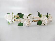 Mini white floral crown - flower halo - hair wreath - flower girls - wedding
