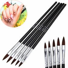 5pcs / set Profesional acrílico pincel pintura Arte de uñas cepillo de manicura