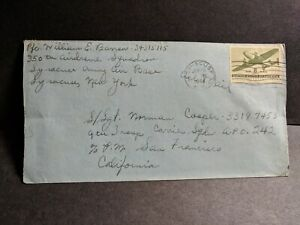 APO 242 APAMAMA, GILBERT ISLANDS 1944 WWII Army Cover 350th AIRDROME Sqdn