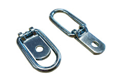 2 X Piccolo Tie Down Anello di ancoraggio zincato per rimorchio, horsebox, Camion, Van