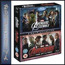 AVENGERS -2 MOVIE COLLECTION - AGE OF ULTRON & ASSEMBLE **BRAND NEW BLU-RAY **