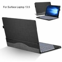 For Microsoft Surface Laptop 2 13.5 inch PU Leather Detachable Sleeve Case Cover