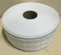 50 METER ROLL 3 inch 75mm Pencil Pleat Curtain Header Heading Tape Woven Pockets