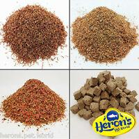 HERONS Freeze Dried Bloodworm Larvae, Daphnia, Tubifex FISH FOOD Betta Guppy