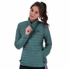 Женские Adidas varilite мягкая приталенная стеганая куртка пуховик в зеленом