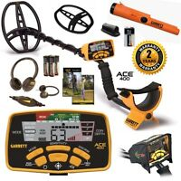 Garrett Ace 400 Metal Detector Special with Pro Pointer AT Plus Free Accessories