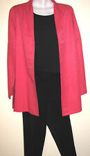 Eileen Fisher Gorgeous Pink Silk Tunic Length Blouse/Jacket Size Medium