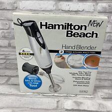 New In Box Hamilton Beach Hand Blender Model 59762  Metallic 2 Speed