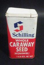 Vintage Schilling Whole Caraway Spice Tin