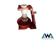 Shaving Stand for Razor and Brush, Double Edge Razor Stand Wooden Handmade