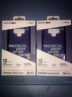 Lot Of 2pc Tech21 Evo Check Drop Protection Case Samsung Galaxy Note9 - (Purple)