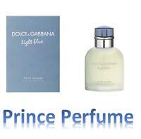 D&G DOLCE E GABBANA LIGHT BLUE POUR HOMME EDT NATURAL SPRAY VAPO - 75 ml