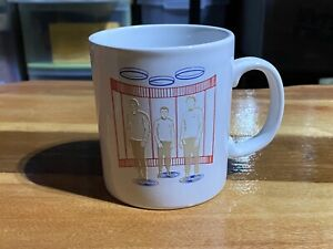 Vintage 1989 STAR TREK Kilncraft Coffee Mug Transporter Kirk Spock McCoy England