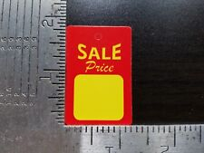 1000 Red Yellow Sale Price Tags Merchandise Unstrung Hang Coupon Small No String