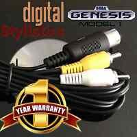 A/V Cable Cord (NEW) Sega Genesis 1 (AV Audio Video, 5-pin) (MK-1601, 1601)