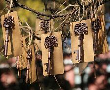 Lot 50 Vintage key Copper Bottle Opener Wedding Favor Tag Decor Gift Escort Card